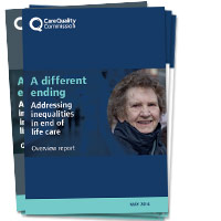 A different ending: Addressing inequalities in end of life care report front covers