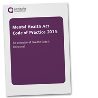 Mental Health Act Code of Practice 2015 evaluation cover image