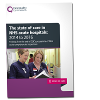 The state of care in NHS acute hospitals cover image