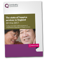 The state of hospice services in England 2014 to 2017 cover image