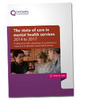 The state of care in mental health services 2014 to 2017 cover image
