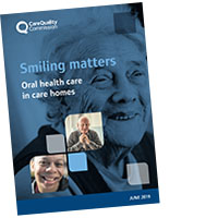 Smiling matters: oral health care in care homes report cover