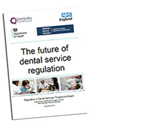 Cover of report - the future of dental service regulation