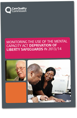 Cover of the Deprivation of Liberty Safeguards 2013/14 report