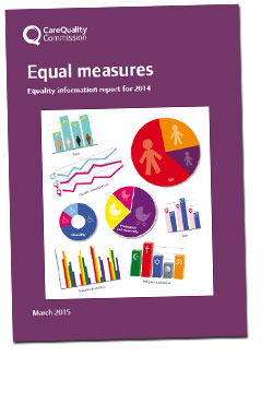 Cover of Equal Measures, CQC's equality information report for 2014