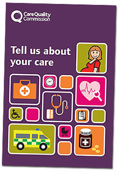 Cover of the Tell us about your care leaflet