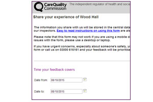 Image showing a share your experience form