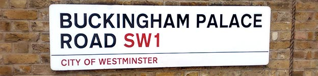 Buckingham Palace Road street sign. Photo by Neil Bird, used under a Creative Commons licence