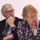 Paul Corrigan and Jane Mordue attending a CQC board meeting