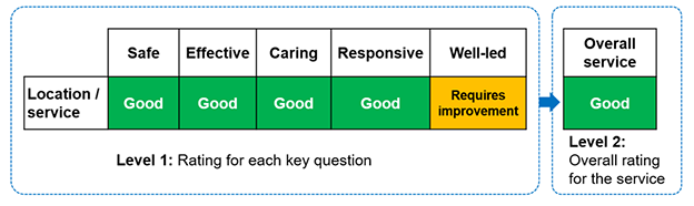 Example of proposed rating for a GP practice