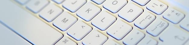Close up image of a computer keyboard.