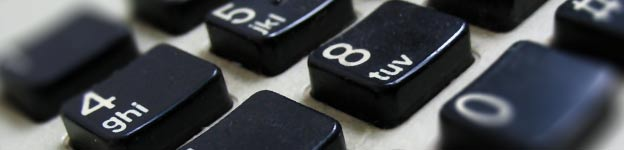 Close up image of a telephone keypad