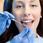 Image of a woman having dental treatment