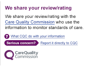 Image of the Share Your Review panel